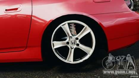 Honda S2000 v1.1 para GTA 4 vista interior