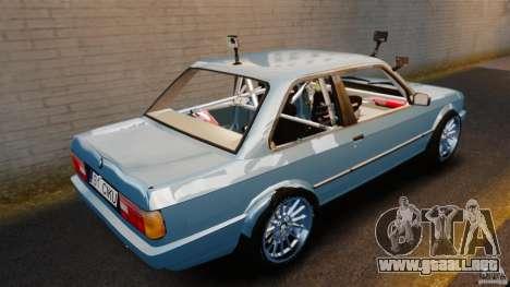 BMW E30 V8 Drift para GTA 4 Vista posterior izquierda