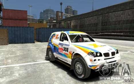 BMW X3 CC DAKAR para GTA 4 vista hacia atrás