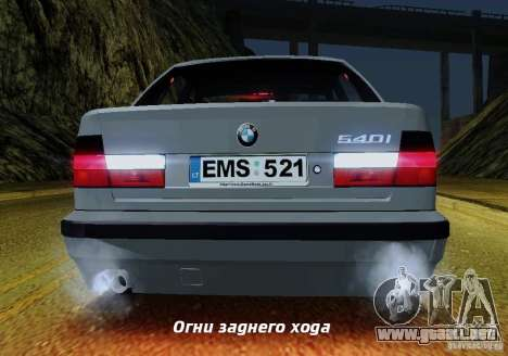 BMW E34 540i Tunable para las ruedas de GTA San Andreas