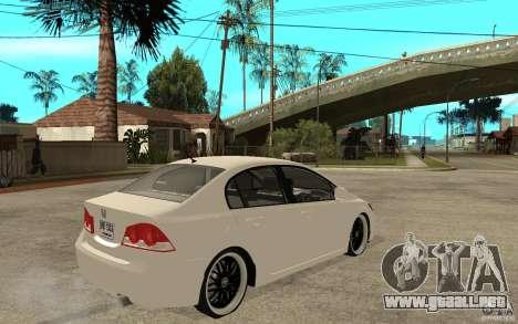 Honda Civic FD para la visión correcta GTA San Andreas