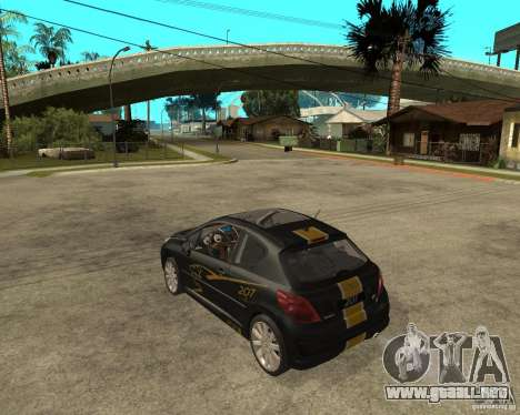 PEUGEOT 207 Griffe LANCARSPORT para GTA San Andreas left