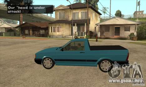 VW Saveiro GL 1989 para GTA San Andreas left