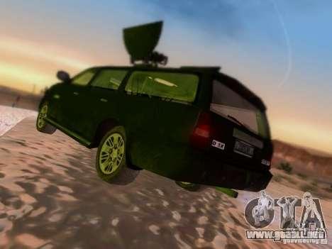 Suv Call Of Duty Modern Warfare 3 para la visión correcta GTA San Andreas
