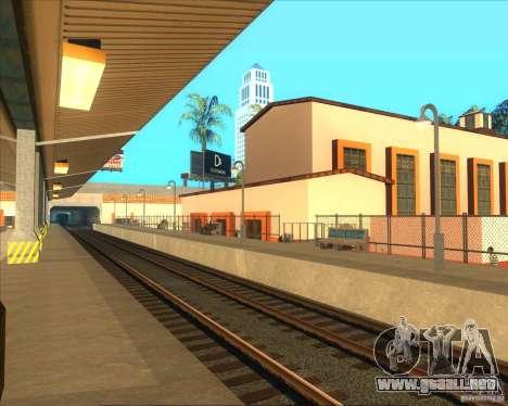 Las plataformas altas en las estaciones de tren para GTA San Andreas