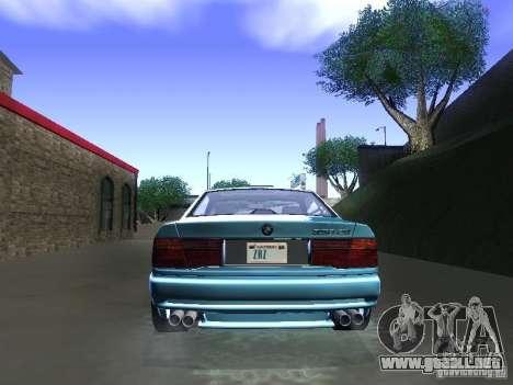 BMW 850CSi 1995 para GTA San Andreas vista hacia atrás