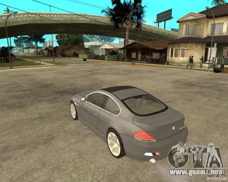 BMW 645Ci 04 para GTA San Andreas left
