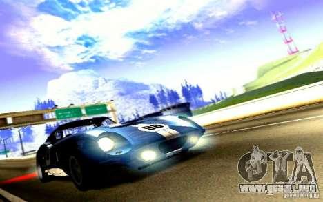 Shelby Cobra Daytona Coupe v 1.0 para GTA San Andreas vista posterior izquierda