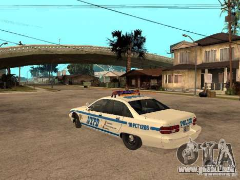 NYPD Chevrolet Caprice Marked Cruiser para GTA San Andreas left