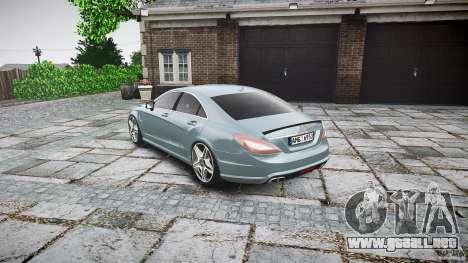 Mercedes Benz CLS 63 AMG 2012 para GTA 4 Vista posterior izquierda
