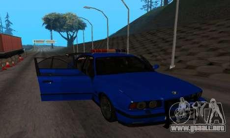 BMW M5 POLICE para visión interna GTA San Andreas