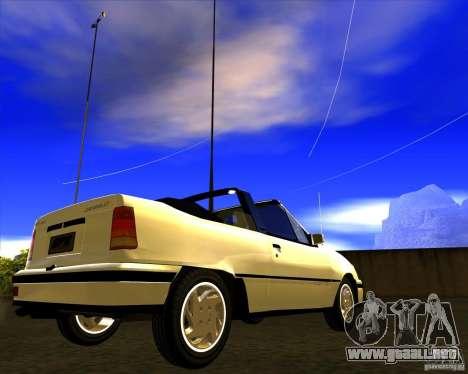 Chevrolet Kadett GSI 2.0 Conversivel (1991-1995) para la visión correcta GTA San Andreas