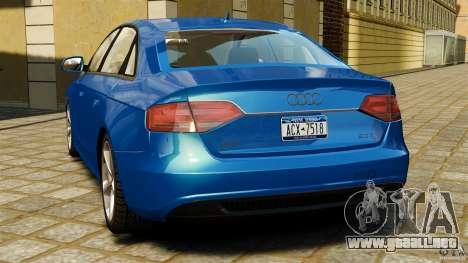 Audi A4 2010 para GTA 4 Vista posterior izquierda