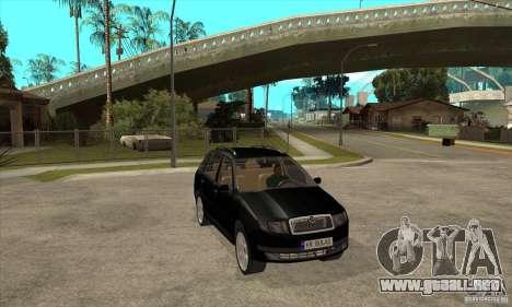 Skoda Fabia Combi para GTA San Andreas vista hacia atrás