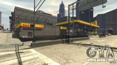 Shell Petrol Station para GTA 4 adelante de pantalla