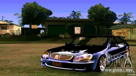 Mercedes S500 para GTA San Andreas