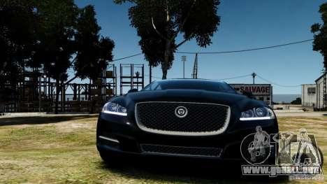 Jaguar XJ 2012 para GTA 4 vista hacia atrás