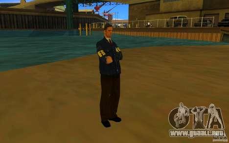 HQ skin FBI para GTA San Andreas tercera pantalla