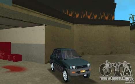 Toyota RAV4 para GTA Vice City vista posterior