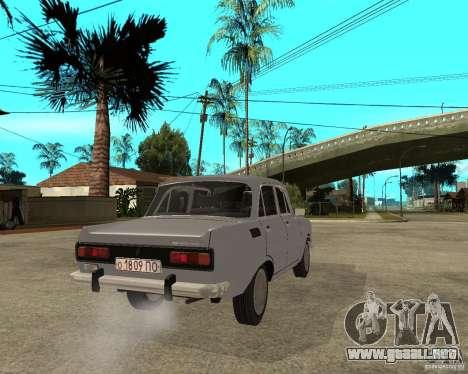 AZLK Moskvich 2140- para GTA San Andreas vista posterior izquierda