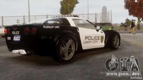 Chevrolet Corvette LCPD Pursuit Unit para GTA 4 vista interior