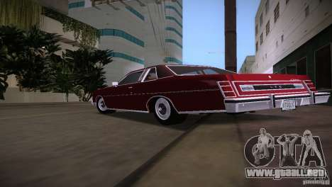 Ford LTD Brougham Coupe para GTA Vice City visión correcta