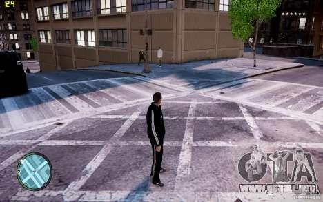 Traje de Adidas para GTA 4 adelante de pantalla