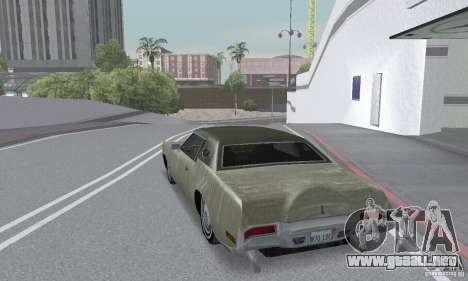 Lincoln Continental Mark IV 1972 para vista inferior GTA San Andreas