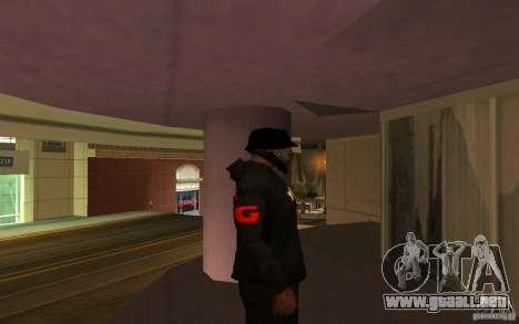 Chaqueta de punto (G) para GTA San Andreas sucesivamente de pantalla