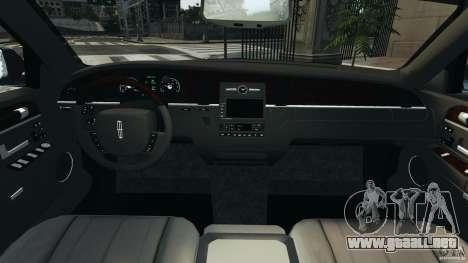 Lincoln Town Car Limousine 2006 para GTA 4 visión correcta