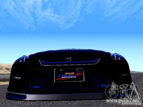 Nissan Skyline R35 Drift Tune para GTA San Andreas vista hacia atrás