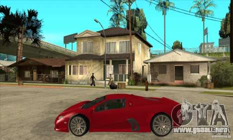 SSC Ultimate Aero Stock version para GTA San Andreas left