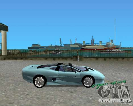 Jaguar XJ220 para GTA Vice City vista lateral izquierdo