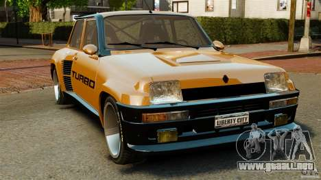 Renault 5 Turbo para GTA 4