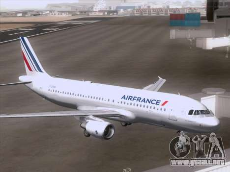Airbus A320-211 Air France para la visión correcta GTA San Andreas