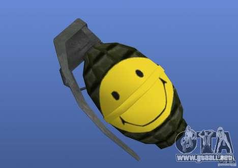 Smiley Granate para GTA 4 tercera pantalla