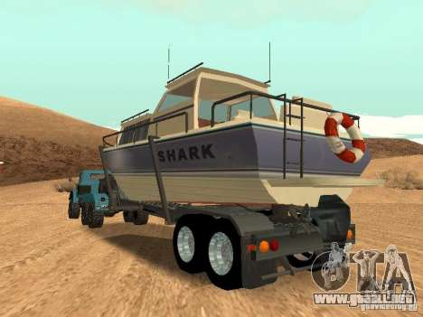 Boat Trailer para visión interna GTA San Andreas