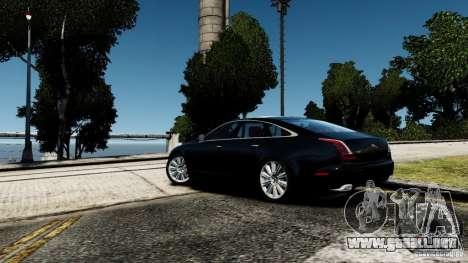 Jaguar XJ 2012 para GTA 4 Vista posterior izquierda