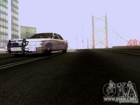 Ford Crown Victoria Canadian Mounted Police para vista lateral GTA San Andreas
