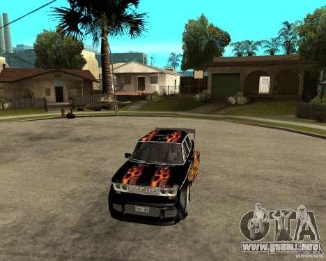 Melodía 2106 VAZ GTX para visión interna GTA San Andreas