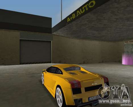 Lamborghini Gallardo v.2 para GTA Vice City left