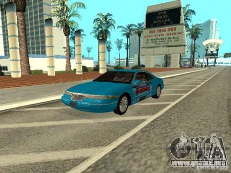 Lincoln Mark VIII 1996 para visión interna GTA San Andreas