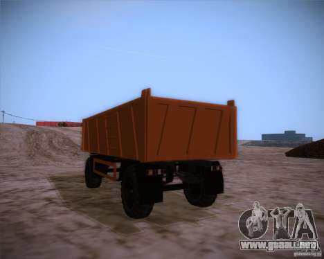 Trailer de MAZ 6317 para GTA San Andreas left