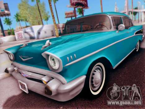 Chevrolet Bel Air 4-Door Sedan 1957 para GTA San Andreas left