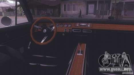 Dodge Charger R/T para GTA San Andreas vista posterior izquierda