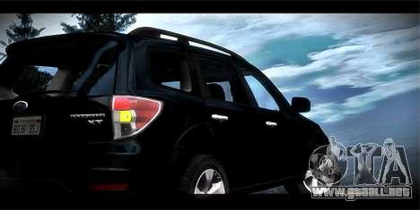 Subaru Forester XT 2008 para vista inferior GTA San Andreas