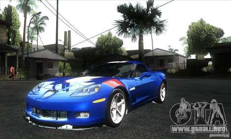 Chevrolet Corvette Grand Sport 2010 para vista inferior GTA San Andreas