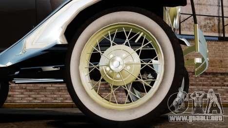 Ford Model T 1924 para GTA 4 vista hacia atrás