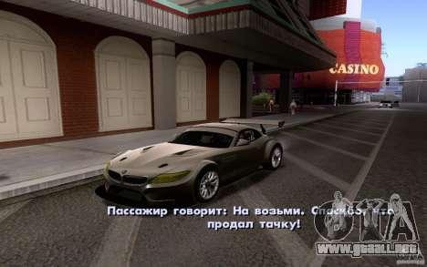 Autos clásicos en venta hacia fuera para GTA San Andreas sucesivamente de pantalla