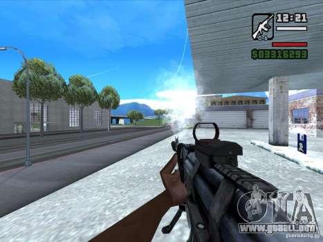AK-103 de WARFACE para GTA San Andreas tercera pantalla